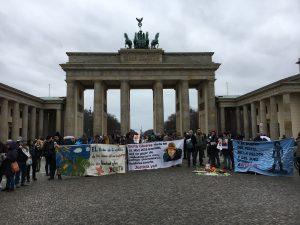 3. Jahrestag des Mordes an Berta Caceres. Gedenken in Berlin, Foto: Ute Löhning - CC-BY-SA-4.0