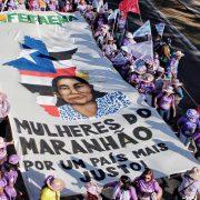 Mehr als 100.000 Frauen beim Marsch der Margaridas