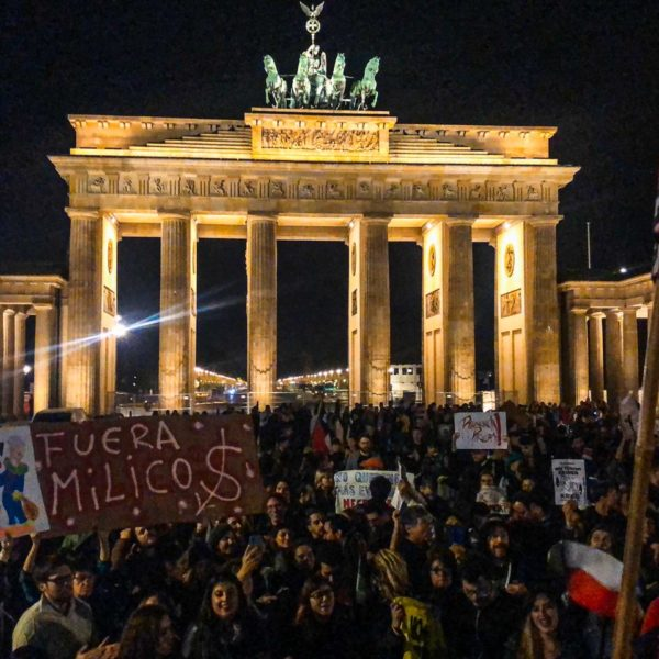 chile despertó - protesta en Berlin