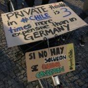 el problema está la privatización - protesta en Berlin 21.10.2019