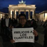 """""""milicos a los cuarteles"""" - protesta en Berlin 21.10.2019"""