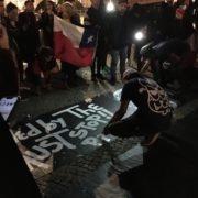 pintando liensos - protesta en Berlin 21.10.2019