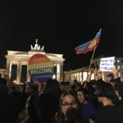 chile despertó con bandera mapuche - protesta en Berlin 21.10.2019