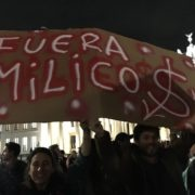 """""""Fuera milicos!"""" - protesta en Berlin 21.10.2019"""