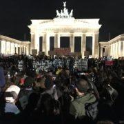 Kundgebung vor dem Brandenburger Tor - protesta en Berlin 21.10.2019
