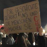 """""""la historia es nuestra"""" - protesta en Berlin, 21.10.2019"""