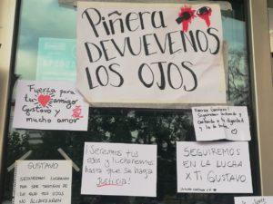 """""""Piñera devuelvenos los ojos"""""""