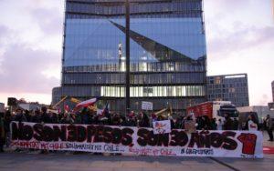 manifestación en Chile a favor de oposición en Chile
