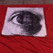 """el ojo como símbolo: """"No más mutilaciones"""""""
