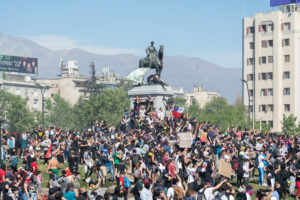 Massenproteste in Santiago