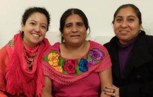 Yolanda Pérez Cruz und Fátima Ojeda (Consorcio) fordern die Freilassung des Umweltschützers Pablo Lopez Alavez