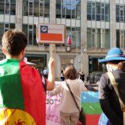 Manifestación Mapuche en Berlín