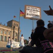 Protesta contra la represión de la policía en Berlín