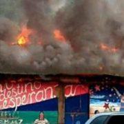 Lagerhallen der EZLN in Chiapas geplündert und in Brand gesteckt