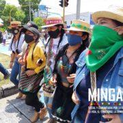 Indigener Protestmarsch nach Bogotá