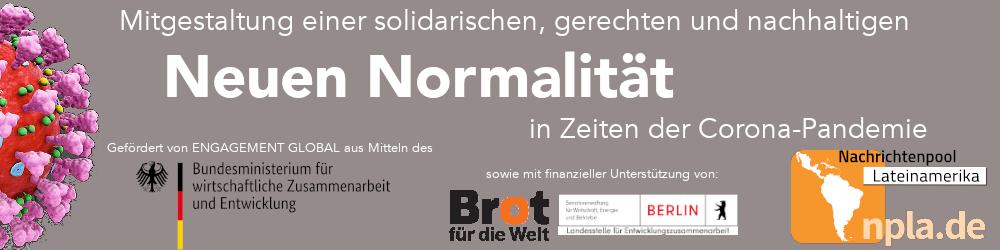 Förderbutton Neue Normalität - BMZ, BfdW