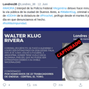 Walther Klug Rivera será expulsado