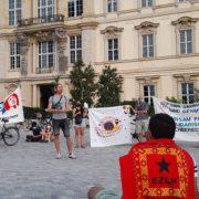 Gira zapatista por la vida: Acción dislocada en Berlín