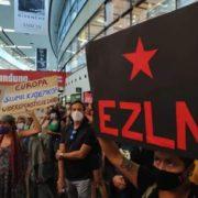 Zapatistische Delegation in Wien gelandet
